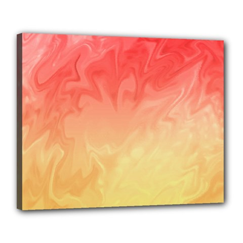Ombre Orange Yellow Canvas 20  X 16  by BrightVibesDesign