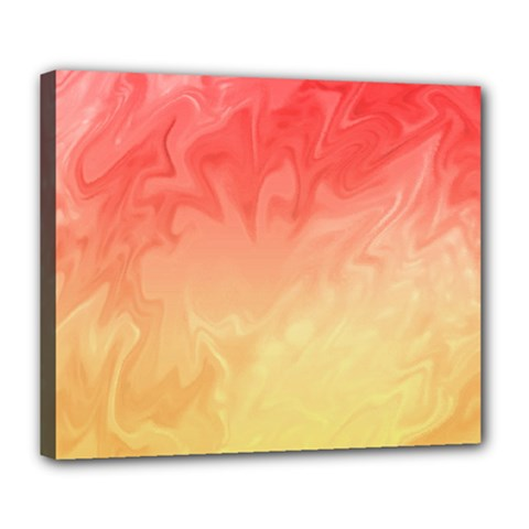 Ombre Orange Yellow Deluxe Canvas 24  X 20   by BrightVibesDesign