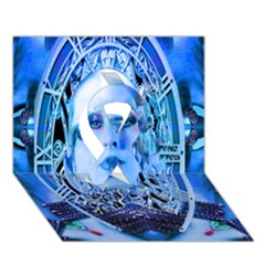 Clockwork Blue Ribbon 3d Greeting Card (7x5)  by icarusismartdesigns