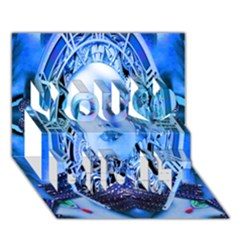 Clockwork Blue You Did It 3d Greeting Card (7x5) by icarusismartdesigns