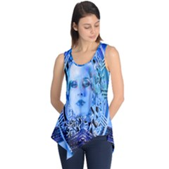 Clockwork Blue Sleeveless Tunic