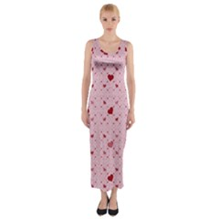 Heart Squares Fitted Maxi Dress by TRENDYcouture