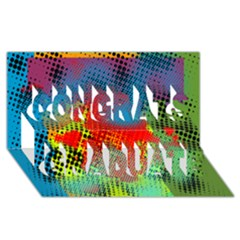 Tiling Lines 5 Congrats Graduate 3d Greeting Card (8x4)  by NotJustshirts