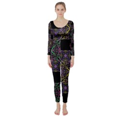 Ornate Boho Patchwork Long Sleeve Catsuit by dflcprintsclothing