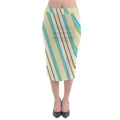 Bent Stripes                                                 Midi Pencil Skirt