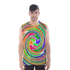 Colorful Whirlpool Watercolors                                                Men s Basketball Tank Top by LalyLauraFLM