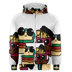 Burger And Fries Men s Zipper Hoodie