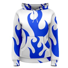 Blue Flames Women s Pullover Hoodie by TRENDYcouture