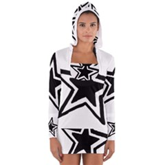 Double Star Women s Long Sleeve Hooded T-shirt by TRENDYcouture