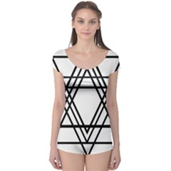 Triangles Boyleg Leotard (ladies) by TRENDYcouture