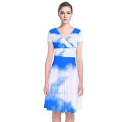 Blue Cloud Wrap Dress by TRENDYcouture