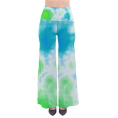 Turquoise And Green Clouds Pants by TRENDYcouture