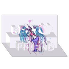 Dirty Wings Best Friends 3d Greeting Card (8x4)  by lvbart