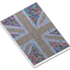 Multicoloured Union Jack Large Memo Pads by cocksoupart