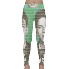 Sinatra Mug Shot Yoga Leggings by cocksoupart