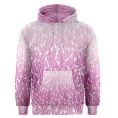 Pink Ombre Feather Pattern, White, Men s Pullover Hoodie by Zandiepants