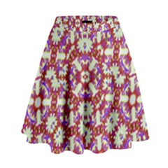 Boho Check High Waist Skirt by dflcprintsclothing