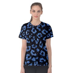 Skin5 Black Marble & Blue Marble (r) Women s Cotton Tee by trendistuff
