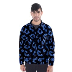 Skin5 Black Marble & Blue Marble (r) Wind Breaker (men)
