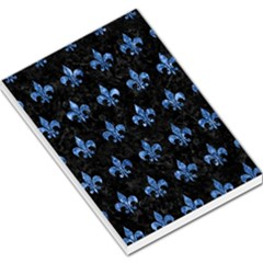 Royal1 Black Marble & Blue Marble (r) Large Memo Pads by trendistuff