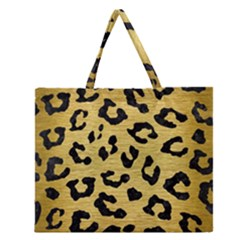 Skin5 Black Marble & Gold Brushed Metal Zipper Large Tote Bag by trendistuff