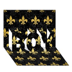 Royal1 Black Marble & Gold Brushed Metal (r) Boy 3d Greeting Card (7x5) by trendistuff