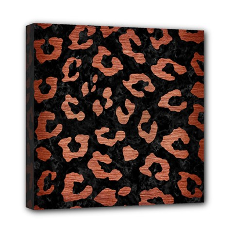 Skin5 Black Marble & Copper Brushed Metal (r) Mini Canvas 8  X 8  (stretched) by trendistuff