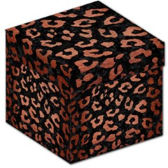 Skin5 Black Marble & Copper Brushed Metal (r) Storage Stool 12  by trendistuff