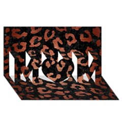 Skin5 Black Marble & Copper Brushed Metal (r) Mom 3d Greeting Card (8x4)