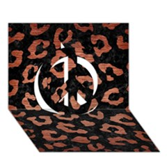 Skin5 Black Marble & Copper Brushed Metal (r) Peace Sign 3d Greeting Card (7x5)