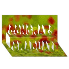 Poppy Iii Congrats Graduate 3d Greeting Card (8x4)  by colorfulartwork