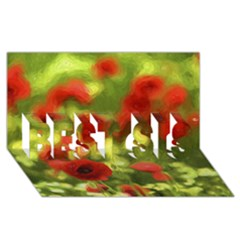 Poppy Vi Best Sis 3d Greeting Card (8x4)  by colorfulartwork