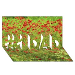 Poppy Vii #1 Dad 3d Greeting Card (8x4)  by colorfulartwork
