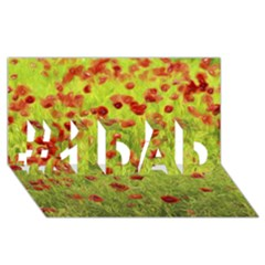 Poppy Viii #1 Dad 3d Greeting Card (8x4)  by colorfulartwork