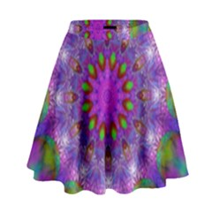 Rainbow At Dusk, Abstract Star Of Light High Waist Skirt by DianeClancy