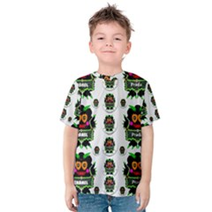 Monster Trolls In Fashion Shorts Kid s Cotton Tee by pepitasart