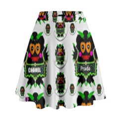 Monster Trolls In Fashion Shorts High Waist Skirt by pepitasart
