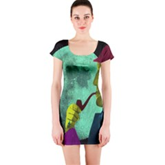 Sherlock Holmes Short Sleeve Bodycon Dress by icarusismartdesigns