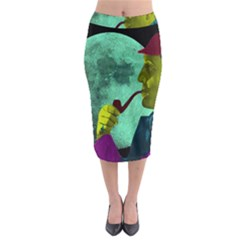 Sherlock Holmes Midi Pencil Skirt by icarusismartdesigns