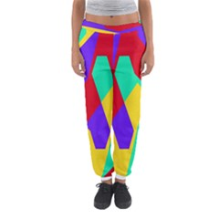 Colorful Misc Shapes                                                  Women s Jogger Sweatpants by LalyLauraFLM