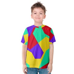 Colorful Misc Shapes                                                  Kid s Cotton Tee by LalyLauraFLM
