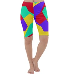 Colorful Misc Shapes                                                  Cropped Leggings by LalyLauraFLM