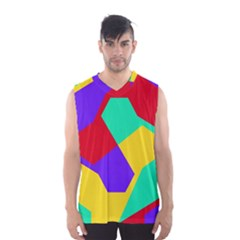 Colorful Misc Shapes                                                  Men s Basketball Tank Top
