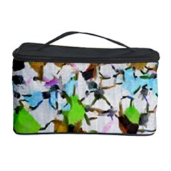 Brush Strokes On A White Background                                                   Cosmetic Storage Case by LalyLauraFLM