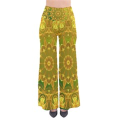 Yellow Green Abstract Wheel Of Fire Pants by DianeClancy