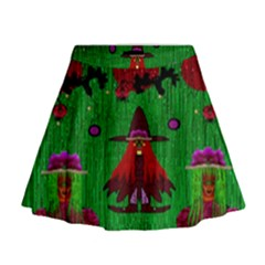 Lady Panda In Everglades Mini Flare Skirt by pepitasart
