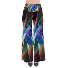 Aurora Ribbons, Abstract Rainbow Veils  Women s Chic Palazzo Pants by DianeClancy