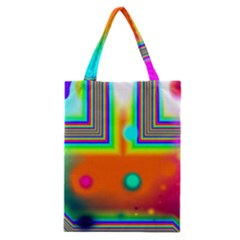 Crossroads Of Awakening, Abstract Rainbow Doorway  Classic Tote Bag by DianeClancy