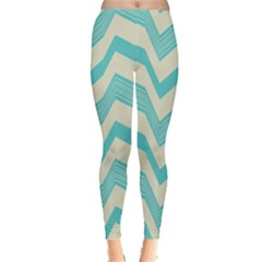 Blue Waves Pattern                                                         Leggings by LalyLauraFLM