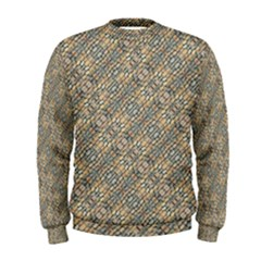 Cobblestone Geometric Texture Men s Sweatshirt by dflcprintsclothing